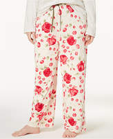 Hue He Loves Me Plus Size Rose-Print Pajama Pants