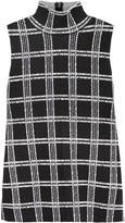 Proenza Schouler Plaid stretch-knit top