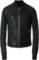 Rick Owens classic bomber jacket - men - Cotton/Calf Leather/Cupro/Virgin Wool - 48