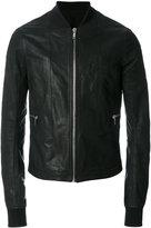 Rick Owens classic bomber jacket - men - Cotton/Calf Leather/Cupro/Virgin Wool - 50