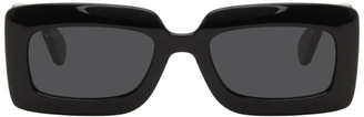 Gucci Black Thick Rectangular Injection Sunglasses