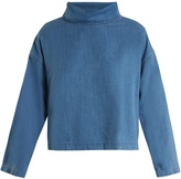 MiH Jeans Mills roll-neck cotton-twill top
