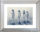 The Well Appointed House Blue and Sepia Beach Beauties I Framed Wall Art-Available in a Variety of Sizes