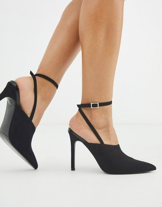 ASOS DESIGN Photography pointed high heels in black