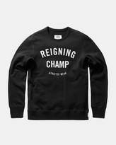 Reigning Champ Gym Logo Long Sleeve Crewneck (Black)