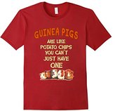 Kids Farm n' Fancy: Guinea Pigs Are Like Potato Chips T Shirt 12