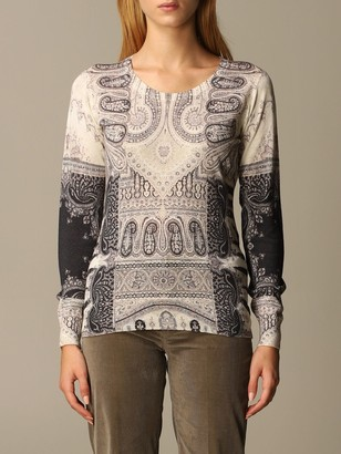 Etro Sweater Sweater In Paisley Silk And Cashmere