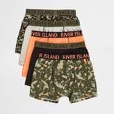River Island Boys khaki camo trunks multipack