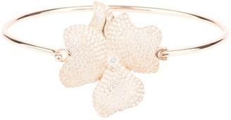 Latelita Flower Large Statement Cuff Bracelet Rosegold