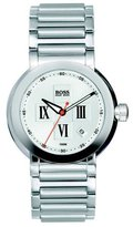 HUGO BOSS Women's Steel Slim Cuff Bracelet Bangle Watch Diamond Set Dial 1502063