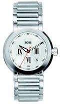 HUGO BOSS Women's Steel Slim Cuff Bracelet Bangle Watch Diamond Set Dial 1502063