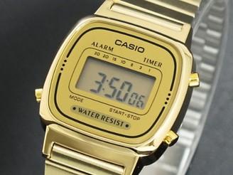 Casio Women's Classic Vintage Quartz Watch with Stainless Steel Strap