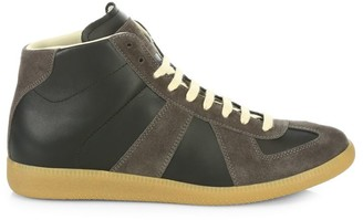 Maison Margiela Replica Leather High-Top Sneakers