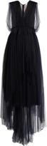 DELPOZO Embellished-back sleeveless tulle dress