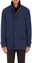 Fedeli Men's Cashmere Field Jacket-Blue
