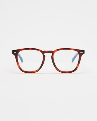 Le Specs Brown Blue Light Lenses - No Biggie Blue Light Glasses - Size One Size at The Iconic