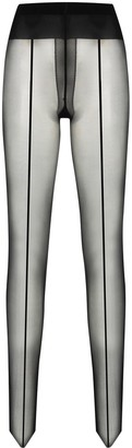 Wolford Control Top back-seam tights