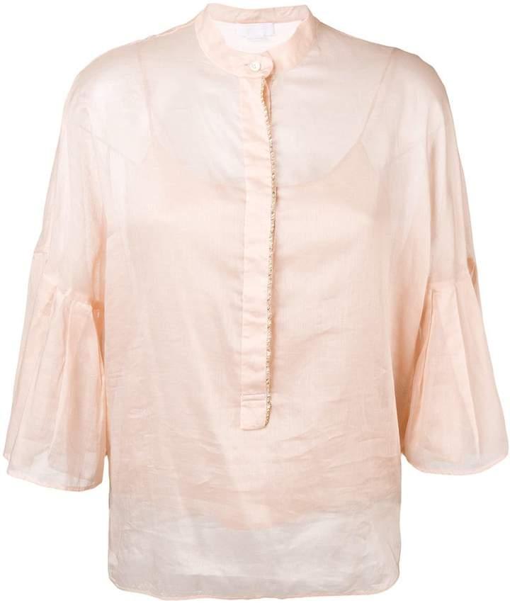 Genny ruffle sleeve blouse