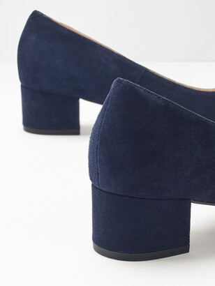 White Stuff Lois Low Court Block Heels