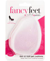 Foot Petals Fancy Feet by Ball of Foot Gel Cushions Shoe Inserts 3 Pairs