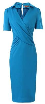 Dorothy Perkins Womens *Jolie Moi Blue Collar Pencil Dress, Blue