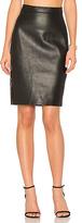 AYNI Honshu Leather Skirt in Black