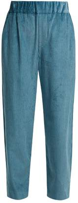Isabel Marant Meloy High-waisted Corduroy Trousers - Womens - Light Blue