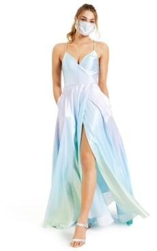 Blondie Nites Juniors' Ombre Satin Gown