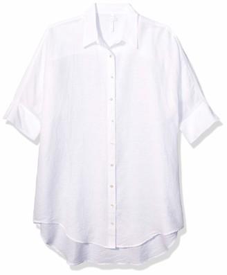 Seafolly Women's Linen Cover Up Short Dress