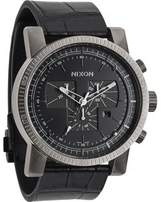 Nixon Men's Magnacon A4581886 Leather Swiss Quartz Watch