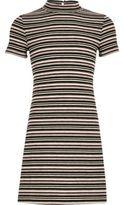 River Island Girls black stripe flared dress