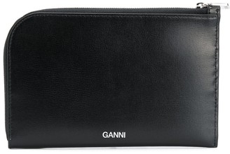 Ganni Curved Zipped Horizontal Wallet