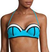 Arizona Mesh Colorblock Push-Up Bandeau Swim Top