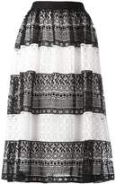 Alice + Olivia Alice+Olivia striped lace skirt