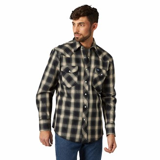 Wrangler Men's Big & Tall Western Premium Performance Advanced Comfort Workshirt