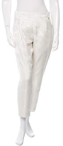 Chanel High-Waist Jacquard Pants