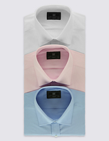M&S Collection 3 Pack Easy to Iron Regular Fit Shirts