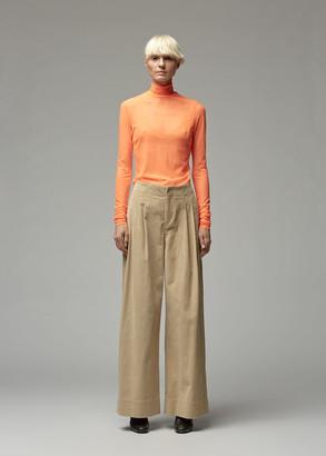Nomia Women's Long Sleeve Mesh Mockneck in Fluro Orange Size XS