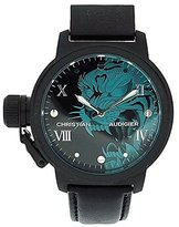Christian Audigier Unisex ETE-105 Eternity Black Panther Ion-Plating Black Watch
