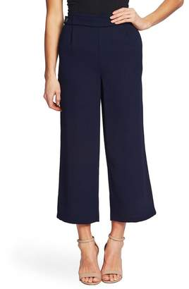 Cynthia Steffe CeCe by Moss Crop Wide Leg Crepe Pants