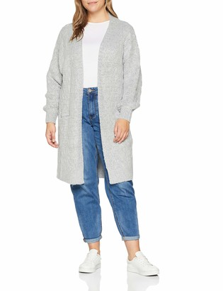 Simply Be Women's Balloon Sleeve Cable Cardigan