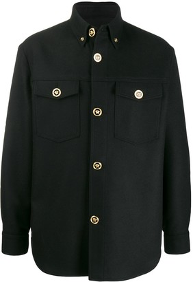 Versace Medusa button up shirt jacket