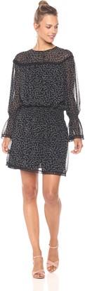 Ella Moon Women's Sera Long Bell Sleeves Cinch Waist Dress