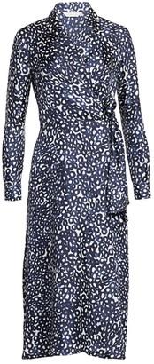 Max Mara Ravel Abstract Circle Print Silk Midi Dress