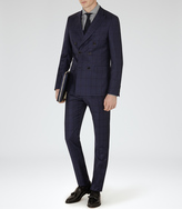 Constantine Double-breasted Wool Suit Navy
