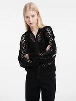 Calvin Klein Platinum Geo Circular Lace Bomber Jacket