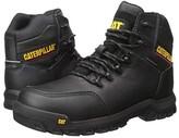 Caterpillar Resorption Waterproof Composite Toe (Black Full Grain Leather) Men's Work Boots