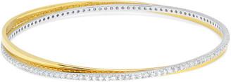 Crislu 18K, Platinum, & Silver Cz Bracelet