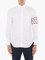 Thom Browne White Hector Embroidered Shirt