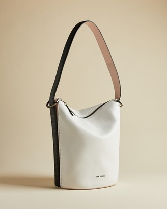 Ted Baker ENDORA Leather shoulder bucket bag